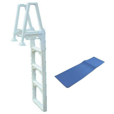 """New CONFER 635-52 In-Pool Economy Above Ground Swimming Pool Ladder 48-56"""" + Pad"""