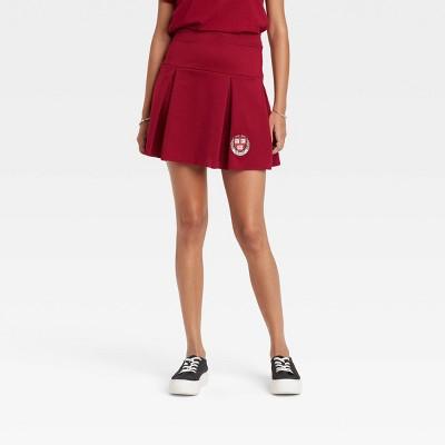 Women's Harvard University Graphic Mini A-Line Skirt - Maroon