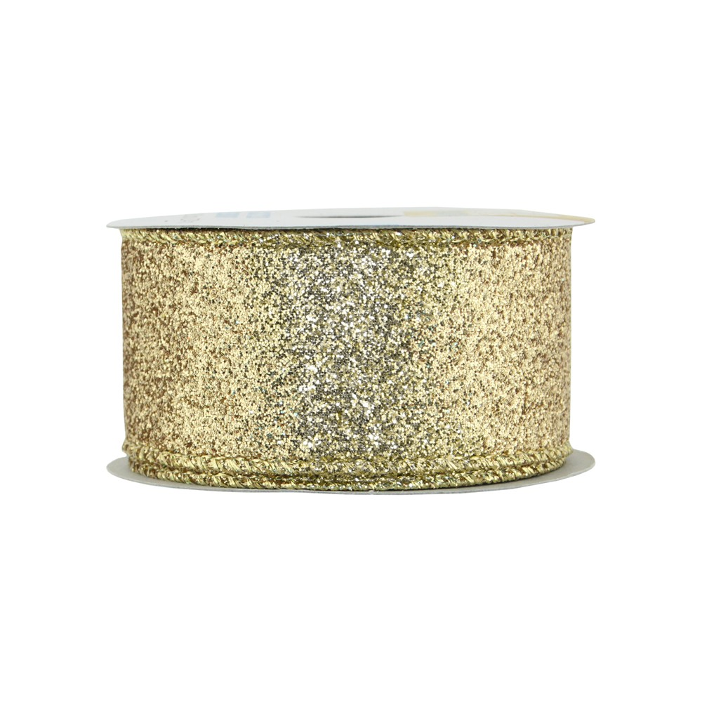 """Image of """"Offray Glitterie Ribbon - 1-1/2"""""""" x 9ft - Gold"""""""