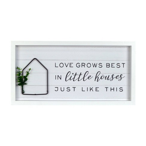 Love Grows Best Decorative Wall Art Hanging - Prinz - image 1 of 3