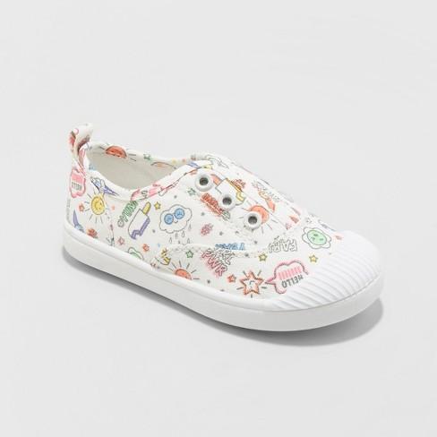 Toddler Girls' Alivia Canvas Slip On Sneakers - Cat & Jack™ - image 1 of 3