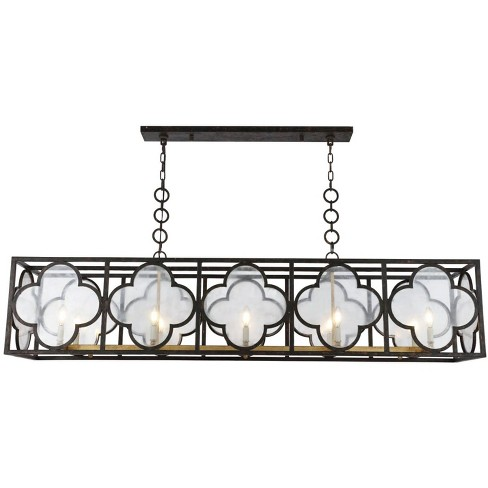 "Elegant Lighting 1526G67 Trinity 10 Light 67"" Wide Linear Chandelier - image 1 of 4"