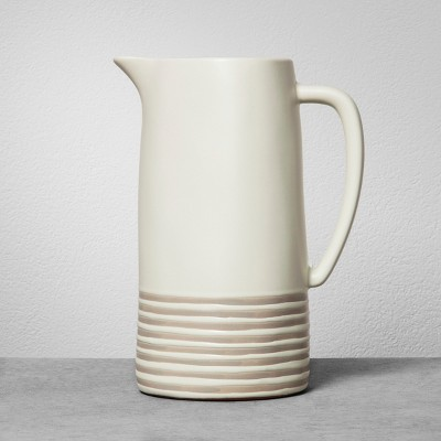 Stoneware Pitcher - Gray Stripe - Hearth & Hand™ with Magnolia