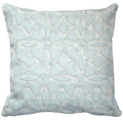 Square Medallion Garment Washed Pillow Blue - Threshold™