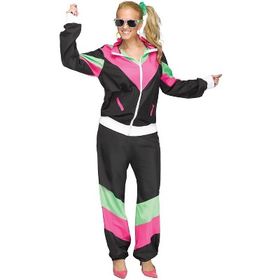Fun World 80s Female Track Suit Adult Costume