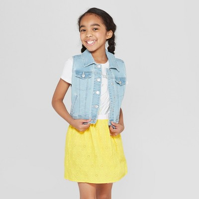 Girls' Denim Vest - Cat & Jack™
