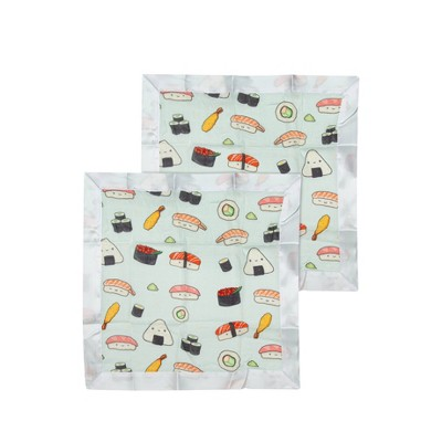 Loulou Lollipop Muslin Security Blanket - Sushi 2pk