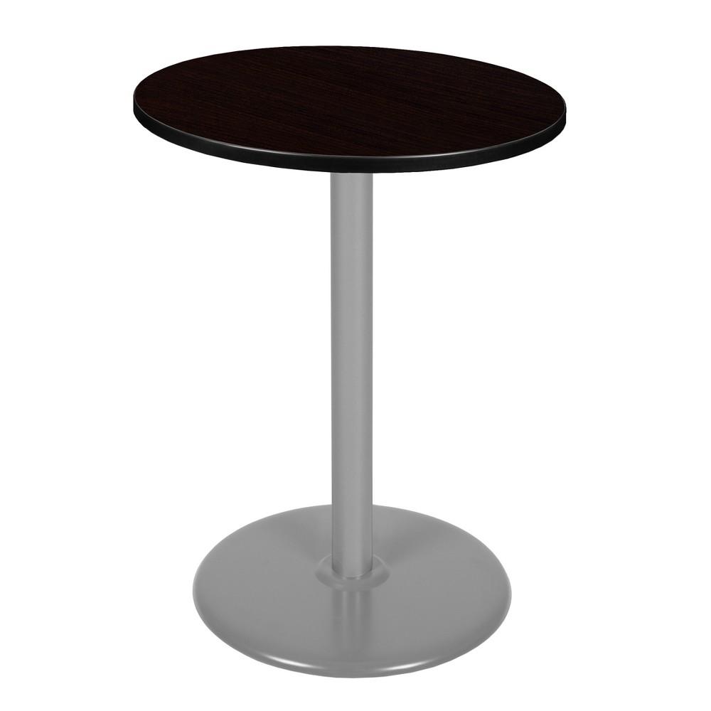 30 Via Cafe High Round Platter Base Table Espresso/Gray (Brown/Gray) - Regency