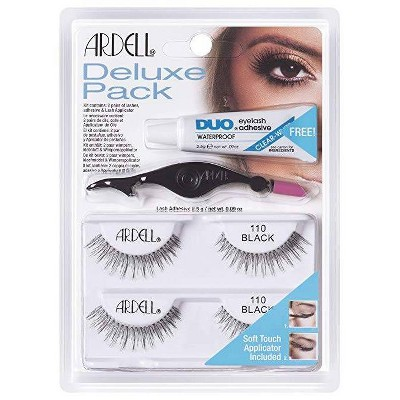 Ardell Eyelash 110 Deluxe Kit Black - 2ct