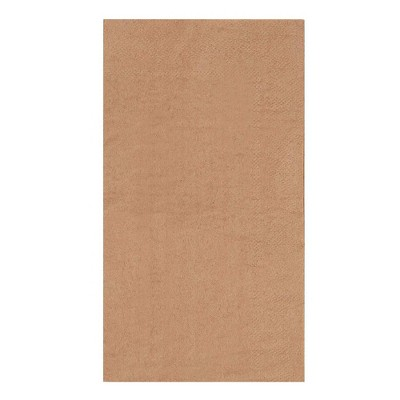 """Juvale 200-Pack Disposable Bamboo Kraft Paper Cocktail Napkins 7.8""""x4.4"""" Brown Party Supplies"""
