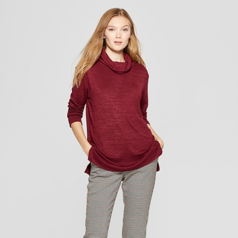 8b6a4104e04 Women s Long Sleeve Cozy Cowl Neck Top - A New Day™   Target