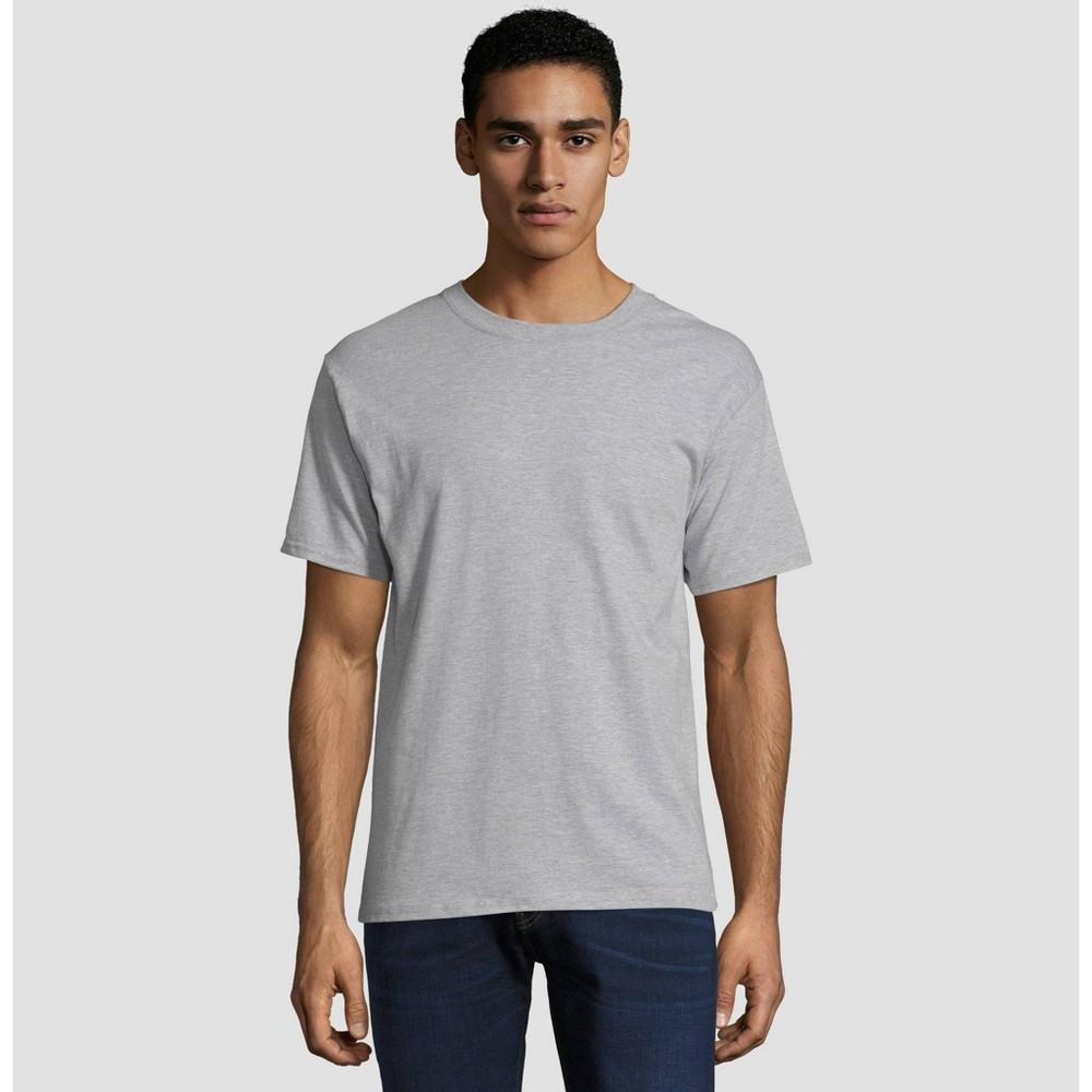 Hanes Men's Short Sleeve Beefy T-Shirt - Light Steel L