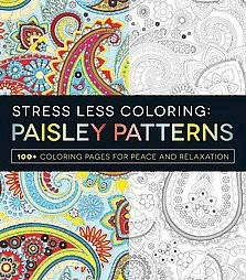 Stress Less Coloring Paisley Patterns Adult Book100 Pages For Peace And Relaxation By Adams Media Target