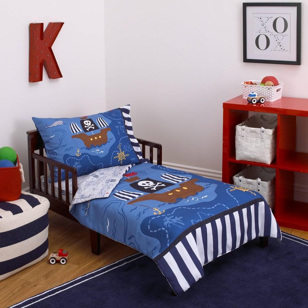 Image of NoJo 4pc Little Tikes Pirate Toddler Bedding Set