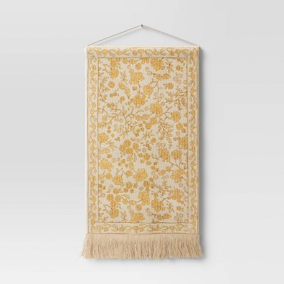 Woven Cotton Printed Wall Tapestry Yellow - Threshold™