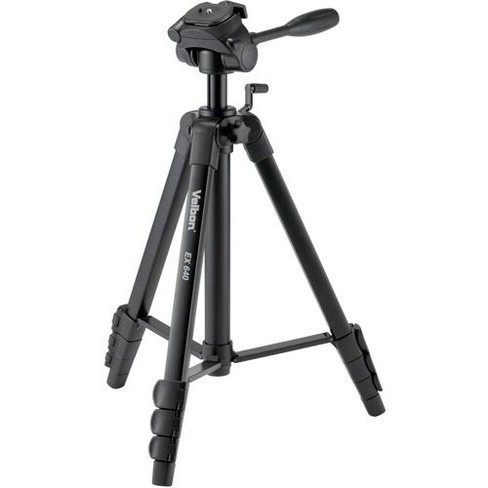 Velbon EX-640 3 Section Aluminum Tripod with 3-Way Pan and Tilt Head, Radial Braces, Gear Elevator, 6.6 lb Loading Capacity - image 1 of 1