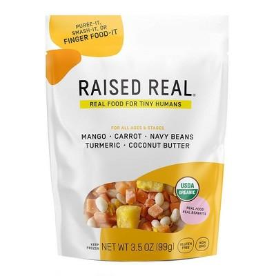 Raised Real Organic Gluten Free Frozen Mango + Navy Bean Frozen Baby and Toddler Food - 3.5oz