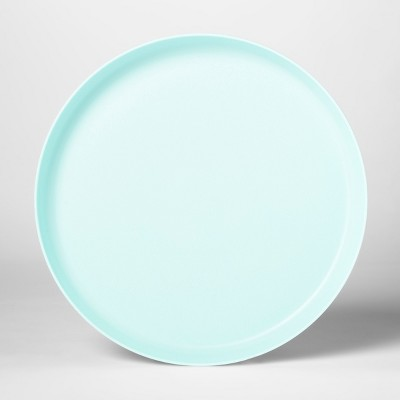 9.6  Plastic Kids Dinner Plate Light Blue - Pillowfort™