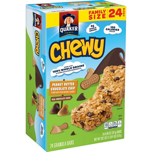 Quaker Chewy Peanut Butter Chocolate Chip Granola Bars - 0.84oz/24ct - image 1 of 8