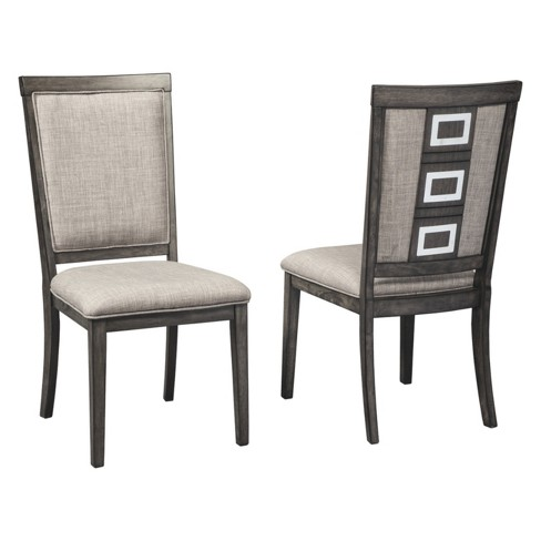 Set of 2 Chadoni Dining Upholstered Side Chair Gray - Signature Design by Ashley - image 1 of 3