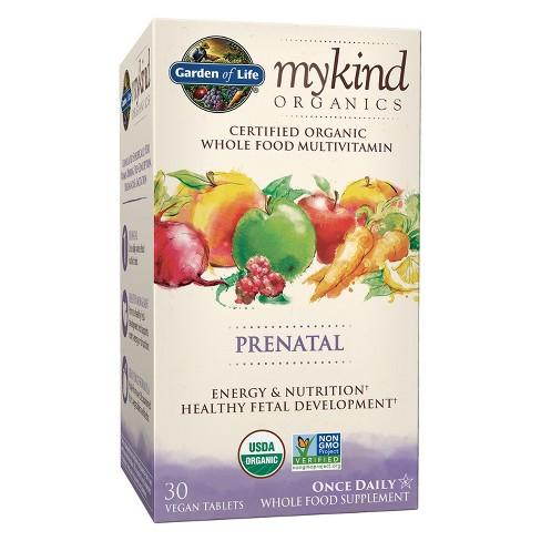 Garden Of Life My Kind Organic Vegan Prenatal Daily Multivitamin Tablets 30ct Target