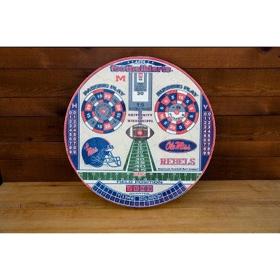 NCAA Mississippi Ole Miss Rebels Official Football Dartboard
