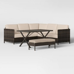 Monroe Sectional Chow-Height Patio Dining Set - Threshold™