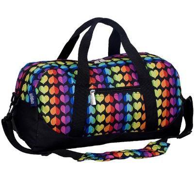 Wildkin Rainbow Hearts Overnighter Duffel Bag