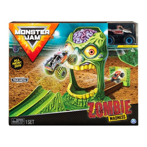 Monster Jam Official Zombie Madness Playset Featuring Exclusive Die-Cast Zombie Monster Truck - image 1 of 8