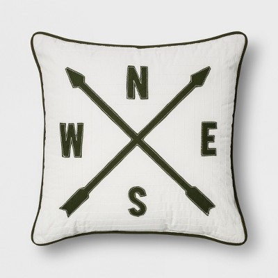 Compass Throw Pillow Cream - Room Essentials™