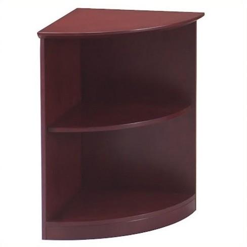 buy popular 0b2d3 2676f Wood Corsica 2 Shelf Quarter-Round Bookcase in Sierra Cherry Brown - Safco