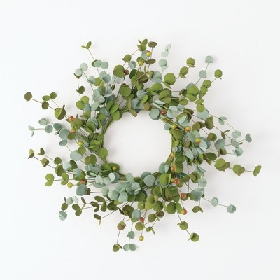 Sullivans Artificial Mini Eucalyptus Berry Accent Wreath