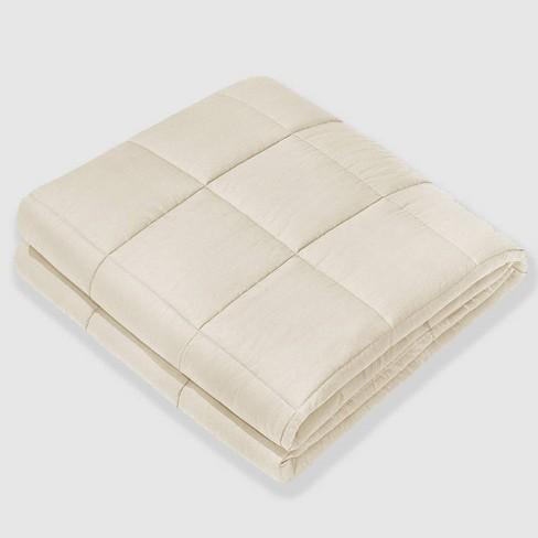 40 X 60 100 Cotton Luxury 10lbs Weighted Blanket Beige Nex Target