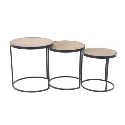 Set of 3 Modern Nesting Tables Beige - Olivia & May