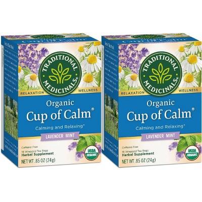 Tea Bags: Traditional Medicinals Cup of Calm Tea Bags