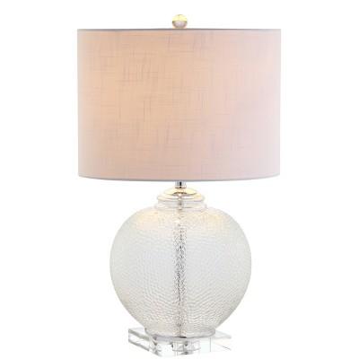 "24"" Glass/Crystal Avery Table Lamp (Includes LED Light Bulb)Clear - JONATHAN Y"
