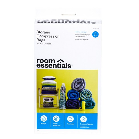 Compression Bags 3 Cube Combo Clear - Room Essentials™ - image 1 of 4