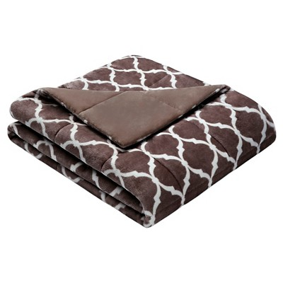 Brown Ogee Oversized Throw (60 X70 )