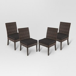 Halsted 4pk All-Weather Wicker Patio Dining Chair - Threshold™