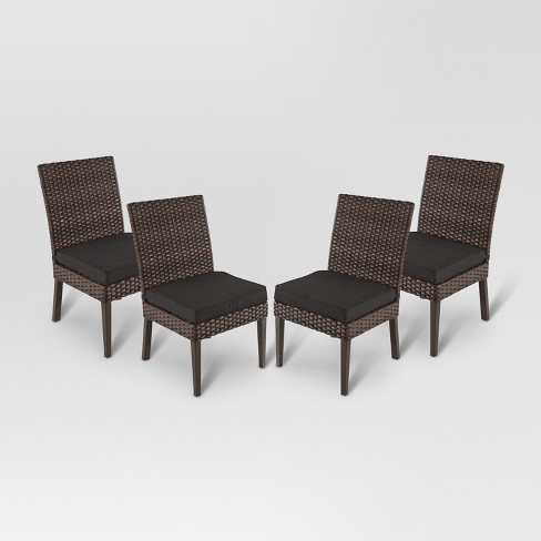 Halsted 4pk All-Weather Wicker Patio Dining Chair - Threshold™ - image 1 of 2