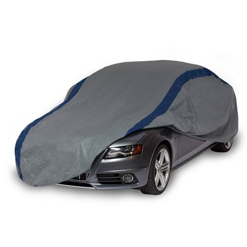 """Duck Covers 16""""x8"""" Weather Defender Sedan Car Automotive Exterior Cover Gray/Blue - image 1 of 4"""
