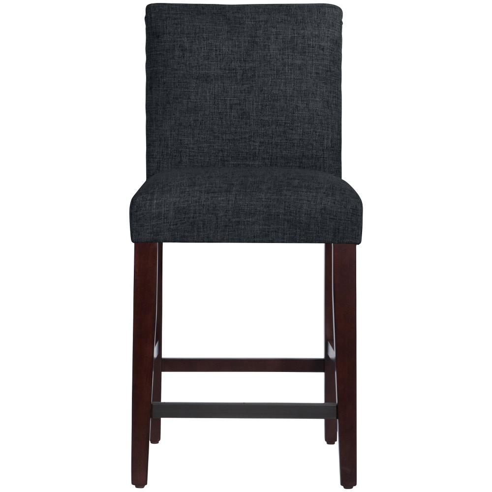 Parsons Counter Height Barstool Black Linen - Threshold Top