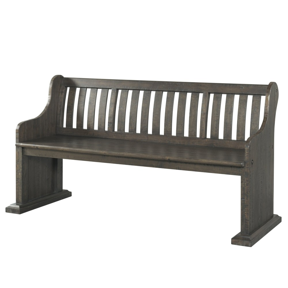Stanford Pew Bench Dark Ash - Picket House Furnishings