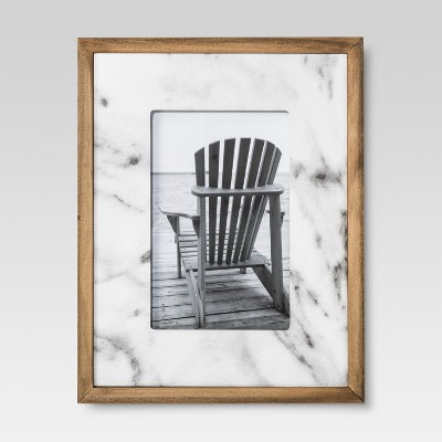 Ivory Marble with Wood 4 x6 Frame - Threshold™