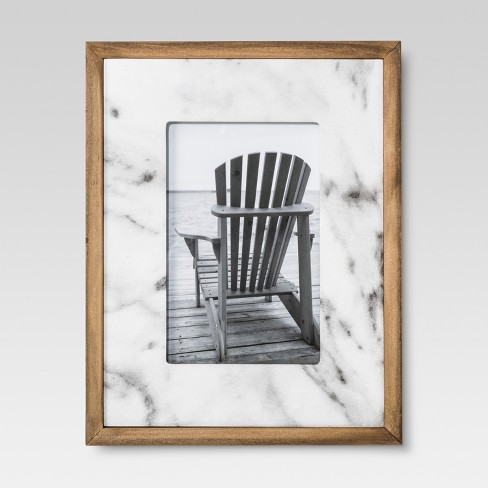 Ivory Marble With Wood 4x6frame Threshold Target