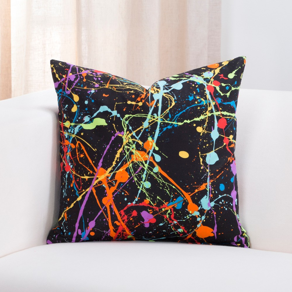 "Image of ""16""""x16"""" Neon Plat Accent Throw Pillow With Sham - Crayola"""