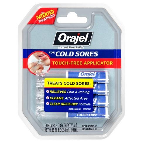 orajel single dose touch free applicator cold sore treatment 4pk