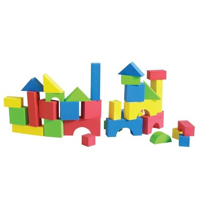 Edushape Edu-Color - 80 pc Firm  Foam Blocks