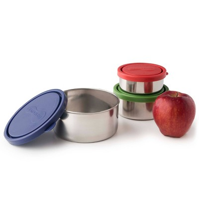 U-Konserve Nesting Stainless Steel Food-Storage Containers Round (Set of 3) - Ocean Plastic Lids