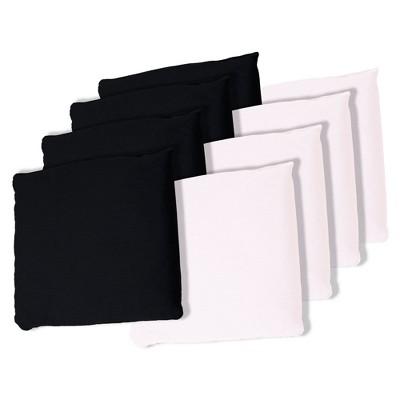 Black and White Cornhole Bags, Set of 8